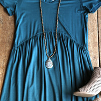 Rory Babydoll Dress, Teal