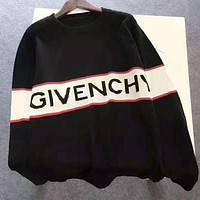 GIVENCHY Popular Women Men Personality Print Long Sleeve Sweater Sweatshirt Top I