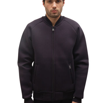 Car Lux Bomber Jacket - Jet / Grey