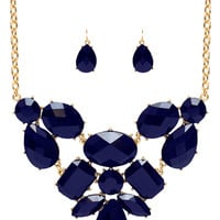 Harley Necklace Set - Navy