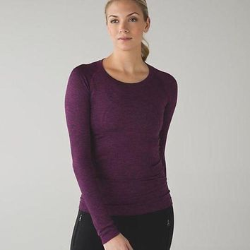 LMFUP0 Lululemon Swiftly Tech Long Sleeve Crew Sport Yoga Stretch Tunic Shirt Top Blouse-6