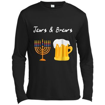 Jews And Brews Jewish Beer Drinking  Long Sleeve Moisture Absorbing Shirt