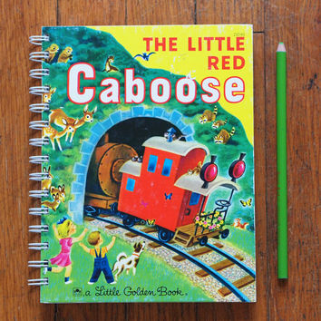 Little Red Caboose notebook little golden book train journal
