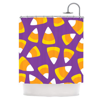 "KESS Original ""Kandy Korn - Purple"" Shower Curtain"