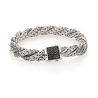 John Hardy - Classic Chain Black Sapphire & Sterling Silver Medium Twisted Bracelet - Saks Fifth Avenue Mobile