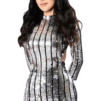 Sequins Hollow-Out Club Dress LAVELIQ