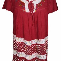Womens Boho Floral Printed Tank Top Gypsy Chic Blouse XL (Red): Amazon.ca: Clothing & Accessories