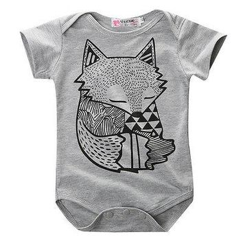 Sleepy Fox Grey Onesuit