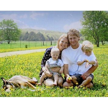 30 Extra Large puzzle pieces Perfect for Baby Showers, Family Portraits and Toddlers