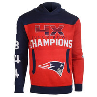 New England Patriots  Official NFL Super Bowl Commemorative Acrylic Hoody