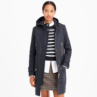 J.Crew Womens Tall Wool Melton Duffle Coat