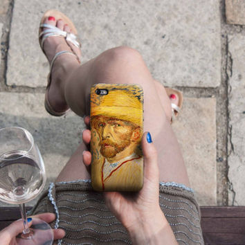 Selfportrait - Van Gogh iPhone Case 6, 6S, 6 Plus, 4S, 5S, LG, Galaxy, Sony, HTC, Huawei. Art Painting. Gift Idea. Gift for him her 3