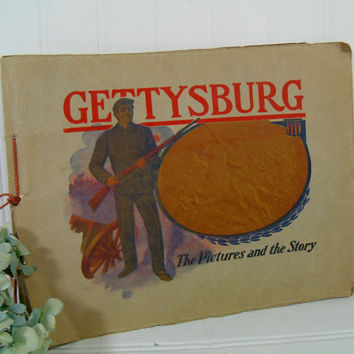 Gettysburg - The Pictures and the Story - Published by David Bocher & Wartime Photographer, W. H. Tipton - Gettysburg National Park Souvenir