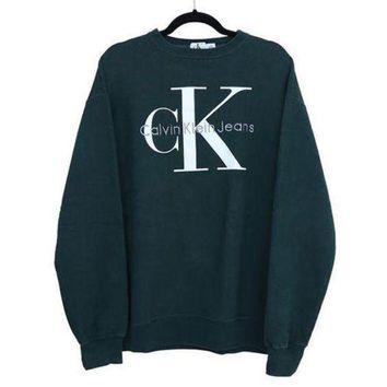 CREYUP0 Calvin klein Jeans Long Sleeve Pullover Sweatshirt Top Sweater-1