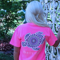 Pink Neon Splash Boho Shelly™ Mandala Short Sleeve Tee