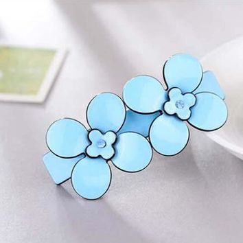 Fashion Women Flower Acetate Hair Spring Clip Clamp French Barrettes Girls Flora Hair Jewelry Hairpin Hair Accessories Ornament
