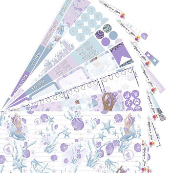 Mermaids Vertical Kit Planner Stickers for use with ERIN CONDREN LIFEPLANNER