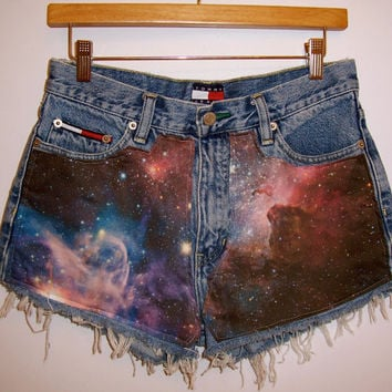 High Waisted Galaxy Shorts