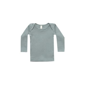 Quincy Mae: Ribbed Lap Tee (Sea)