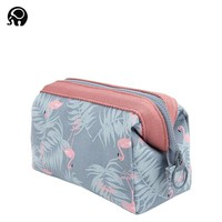 2018 Korean Candy Colors New Fashion Women Flamingo Flowers Fashion Brand Travel Makeup Case Cosmetic Bags High capacity