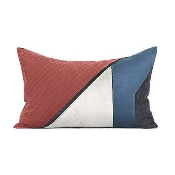 """Blue Red Picasso Style Pillow 12""""X20"""""""