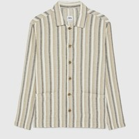 STRIPED RUSTIC OVERSHIRT