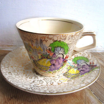 English Lady Teacup H&K Tunstall Lady Crinoline by TheDorothyDays