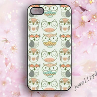 Owl iPhone case,iPhone 4/4s case,owl iPhone 5/5s case,iPhone 5c case, owl samsung galaxy s5 case,Colorful and lovely owl,charm case