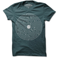 Arquebus Clothing: Life A Maze Tee Men's Teal, at 50% off!