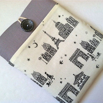 Kindle Case, Nexus 7 Cover, Nook, Kobo, 7 inch Tablet or eReader Sleeve - Champs Elysees