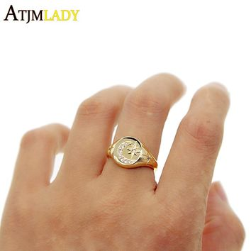 Muslim Allah Moon and Star Ring Men Islam Arabic God Color Male Muhammad jewelry drop shipping elegant rings women jewelry