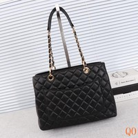HCXX 19Sep 208 Fashion Pop Chain Qulited Tote Larger Capacity Shopper 33-24-14