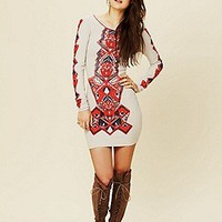 Free People  Aztec Princess Bodycon at Free People Clothing Boutique