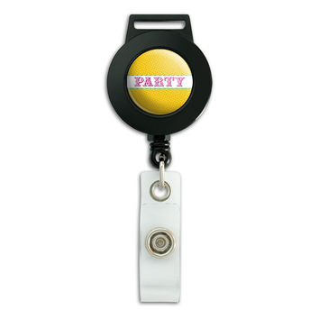 Party Cute Colorful Retractable Badge Card ID Holder