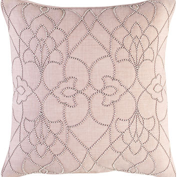 Surya Dotted Pirouette Throw Pillow Brown, Purple