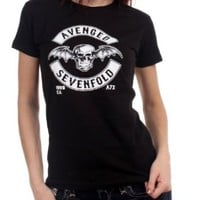 Avenged Sevenfold - Deathbat Crest Womens T-Shirt In Black