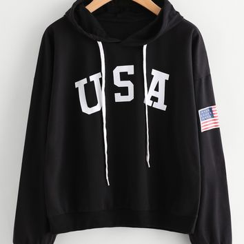KPOP BTS Bangtan Boys Army women hoodies winter usa flag sweatshirts ladies autumn festivals classics  clothes harajuku sweatshirt women punk pink AT_89_10