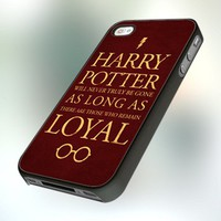 Harry Potter Quote Special design for iPhone 4 or 4S Case / Cover