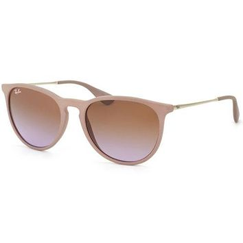 Authentic Ray Ban RB 4171 Erika 600068 Rubber Sand Sunglasses Rose Gradient Lens