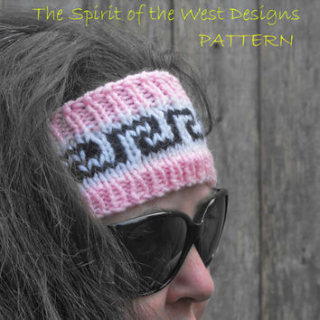 Nuka Ear Warmer - Knitting Pattern, headband, headwrap, earwarmer, warmer, teen, adult, stranded, womans accessories, ear-muff, wrap turban