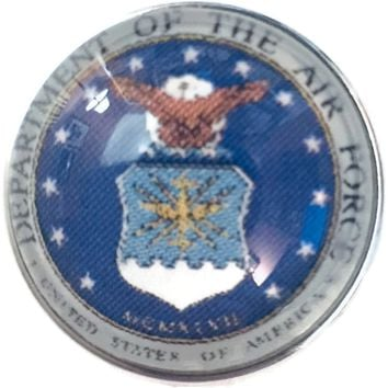 US Military Department Of The Air Force 18MM - 20MM Fashion Snap Jewelry Snap Charm New Item