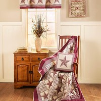 Burgundy Country Barn Star Home Accents & Decor
