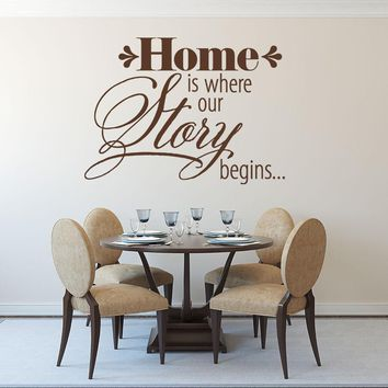 Home is Where our Story Begins... Wall Decal