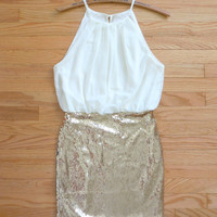 Sparkling Chestnut Party Dress