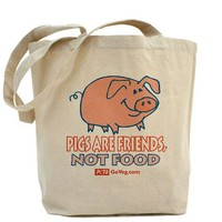 Pigs are Friends Tote Bag - CafePress