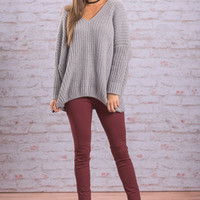 Comforts Of Home Sweater, Gray