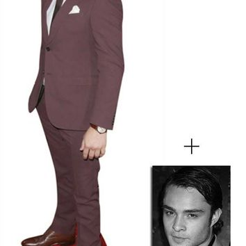Fan Pack - Ed Westwick Lifesize Cardboard Cutout / Standee - Includes 8x10 (20x25cm) Star Photo