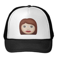 Woman Emoji Mesh Hat