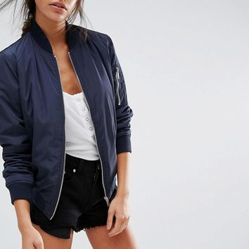 New Look Padded Bomber at asos.com