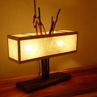Creative And Unique Wood Base Lamp And Lights For Home Decor